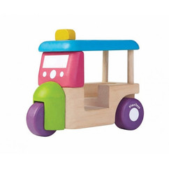 Plantoys mini tuk tuk pastelfarver