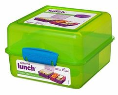 Sistema Madkasse - Itsy Bitsy Lunch Cube Lime/blå