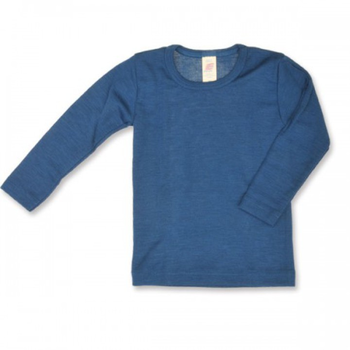 5d73194a Køb Engel Natur Økologisk Langærmet Bluse i uld/silke - blå